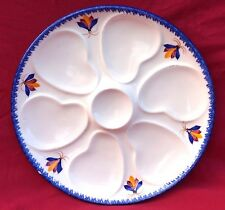 HB QUIMPER Advertising Oyster Plate Letty Farm Hand Painted Faience