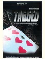TAGGED card on necklace magic trick+ DVD+props close-up Richard Sanders illusion