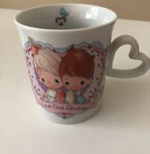 """1992 Enesco Precious Moments """"love One Another�Mug Cup-Coffee-Tea w/out box"""