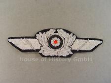 96521 Luftwaffe: Schirmmützenschwinge für Offiziers Schirmmütze, handgestickt