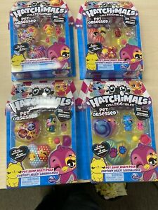 4 Different HATCHIMALS COLLEGGTIBLES - Pet Obsessed - Multi Pack!