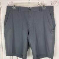 NEW Under Armour Mens 40 Casual Golf Shorts Gray Flat Front Pockets Mid Length