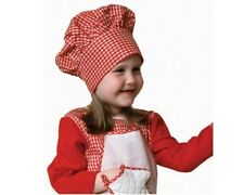 Dress Up America Kids Red Gingham Chef Hat with Velcro Closure one size fit most