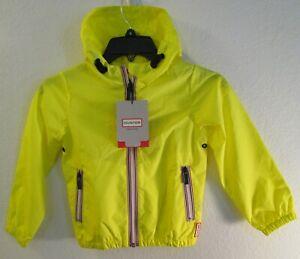 NWT Hunter Kids Original Shell Softshell Jacket 5-6 Wader Yellow MSRP$85