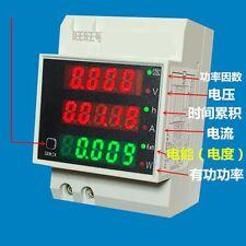 AC 110V 220V DIN RAIL 100A KWH energy power electricity meter Ammeter Voltmeter