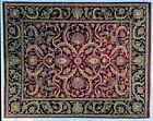 Thick 9x12 Burgundy Traditional Handmade Rug New Indian Jaipur Carpet
