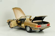 1986 Mercedes-Benz 300 SL R107 Cabriolet gold metallic 1:18 Norev 183514