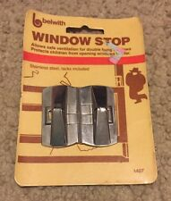 Vintage Belwith Hinged Double Hung Window Stops (pack of 2) New