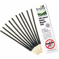 100% Natural Outdoor Mosquito Stick Biodegradable Pest Control Repellent 10 Ct.