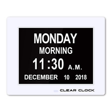 Calendar Day Clock Digital Memory Loss with Optional Day Cycle Mode for Seniors