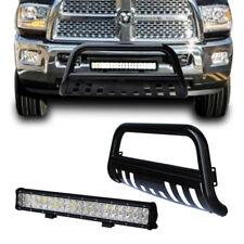 Bull Bar Bumper Grille Guard 09-17 Dodge Ram 1500 +4D Lens 126w Led Light +Wring