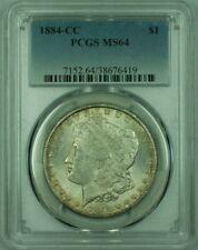 1884-CC Morgan Silver Dollar S$1 PCGS MS-64 Attractive Light Toning (B) (26)