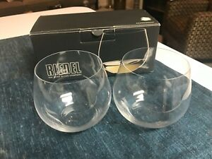 SET of 2 SUPERB Riedel O CHARDONNAY WINE TUMBLERS Stemless Glasses MINT IN BOX