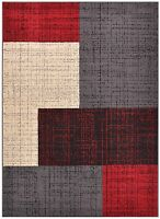 Closeout Deals Limited Stock New Squares Red Contemporary Area Rugs 5x7 8x10 Rug