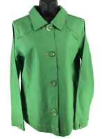 NEW Denim and Co. Green Button Front Classic Jacket Women's S Small NWT D & Co.