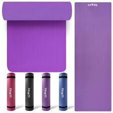 Large Exercise 10/15mm Thick Yoga Mat NonSlip Gymnastic Training Fitness Workout