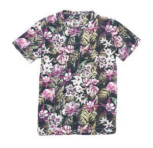 Replay M3485 Floral Print Jersey T-Shirt, Black