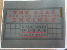1906 Ajax Iron Works Gas Engine Catalog Gas & Gasoline Engine Makers