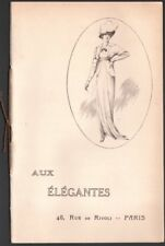 """Catalogue Mode. Maison """"Aux Elégantes"""".  Toilettes de mariée. Paris - Vers 1910"""