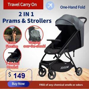 New 2019 Lightweight Compact Baby Stroller Pram Easy Fold Travel Carry on Plane
