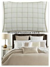 NEW Hotel Collection Waffle Weave Quilted Cotton Linen Pillow Sham STANDARD