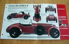 1932 ALFA ROMEO 6C 1750 SUPER SPORT CONVERTIBLE UNIQUE IMP BROCHURE