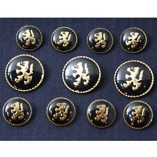 Gold Black Metal Blazer Buttons Set for Suit Blazer or Sport Coat