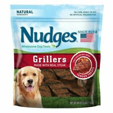 Nudges Wholesome Real Steak Grillers Dog Treats 48 Oz Priority