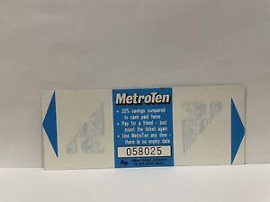 NSW Urban Transit Metro Ten Blue Bus Concession Ticket 1-2 Section Fares Unused