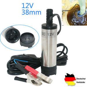 12V 38mm Tauchpumpe Diesel Transfer Pump Wasserpumpe Transfer Edelstahl 12L/min
