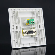 Wall Face Plate Yellow Audio AV Video Plate & VGA Outlet Socket Assorted Panel