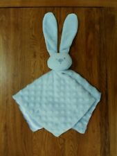 SOFT TOUCH BLUE BUNNY RABBIT WITH BLUE BLANKIE BABY COMFORTER SOOTHER