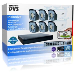 Professionelle 4K IP Kamera Set Grundstücksüberwachung UltraHD Nachtsicht Kamera