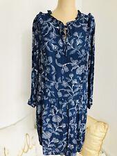 Caslon Women's Dress Small Petite Nordstrom Ruffle Detail Drop Waist Floral NEW