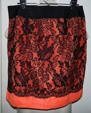 NWT THE LIMITED Lace Lined Skirt Orange And Black Retail $79 Size 10