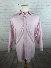 Brooks Brothers Men's Pink Plaid Cotton Dress Shirt Size 16.5 32/33 $125