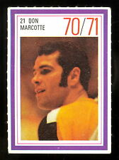 1970-71 ESSO POWER PLAYERS NHL #21 DON MARCOTTE EX-NM BOSTON BRUINS UNUSED STAMP