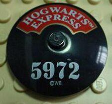 LEGO 4708, 4758 - Dish 4 x 4 Inverted w/ Hogwarts Express and '5972' - Black