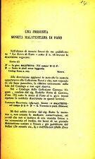 HN Castellani. Una presunta moneta malatestiana di Fano