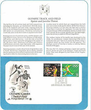Los Angeles OLYMPICS Track & Field First Day Cover 1991 29 cent US POSTAGE MINT