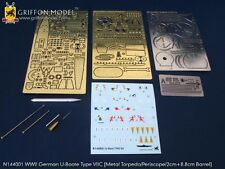 Griffon 1/144 #N144001 German U-Boat Type VII C Detail Up Etching Parts