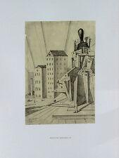 Giorgio de Chirico 20x27 Art Print IL GRANDE METAFISICO 1918 Serigraph RARE