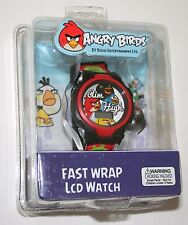 2 Angry Birds Aim High Fast Wrap LCD Watch Sealed New NOS 2014 Dead Battery