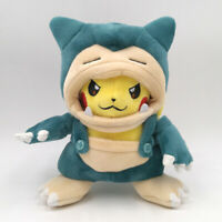 Pokemon Pikachu with Snorlax Suit Cloak Plush Toy Kabigon Stuffed Animal Doll 8""
