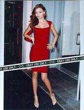 MIRANDA KERR VERY SEXY!! COLOR 8x10 PHOTO POSED IN TIGHT RED DRESS #008