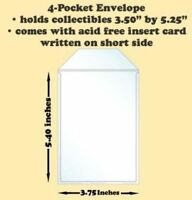 Best Hobby Pages 4-Pocket Polypropylene Archival Envelope Short Side Card 50-Pac