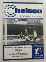 1968/69 CHELSEA v SHEFFIELD WEDNESDAY - 28th August