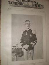 Príncipe de Nápoles futuro rey Víctor Manuel III de Italia 1891 antiguos impresión ref AZ