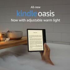 All new 2019 Release Kindle Oasis Waterproof Reader Adjustable Warm Light 8 GB