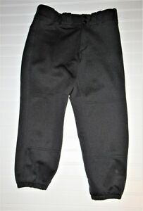 Mizuno Performance Womens Black Softball Pants w/ Quilted Back Padded Size Small